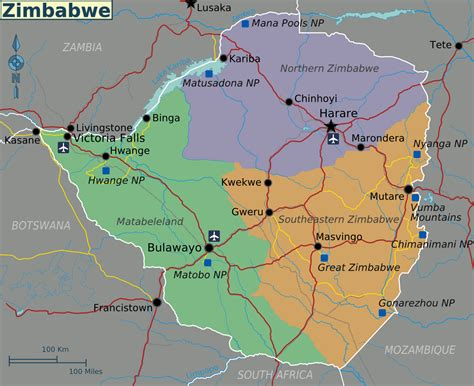 zimbabwe regions map