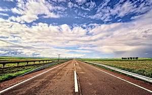 Road, Fields, Sky, Landscape, Wallpapers, Hd, Desktop, And, Mobile, Backgrounds
