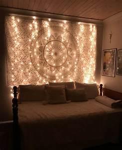 Boho, Bedroom, Fairy, Lights