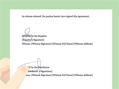 draft  distributor agreement  pictures wikihow