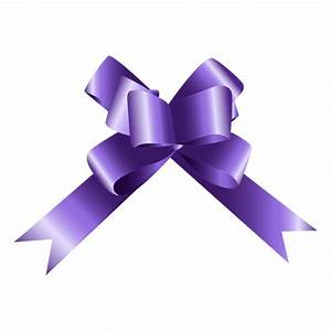 Bow purple gift - Transparent PNG & SVG vector