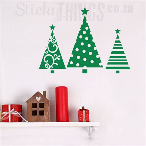 christmas trees wall sticker stickythings wall stickers