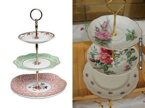 diy vintage plate cake stands check out more ideas at