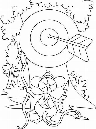 Coloring Archery Bow Pages Arrow Target Horizon