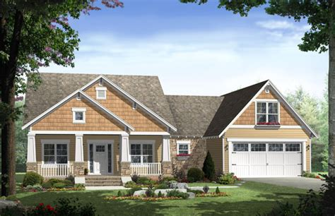country craftsman style house plan  porches