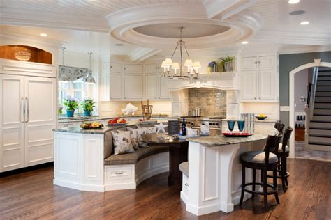 Kitchen Island Booth Ideas by Island For Eight Traditional Kitchen Other By