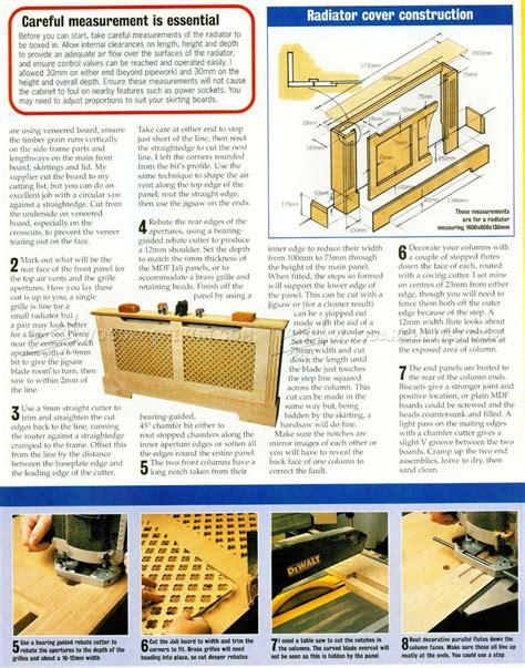 Radiator Cover Plans • Woodarchivist