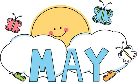 May Clip Month Of May Butterflies Clip Month Of May