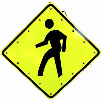 Crosswalk Sign Flashing Solar Powered Signs Traffic