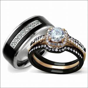 Black Titanium Wedding Rings For Her Wedding Gallery