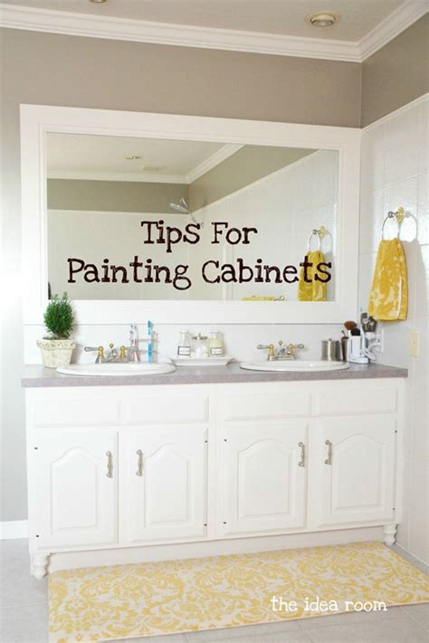 diy bathroom cabinet painting diy home projects the idea room