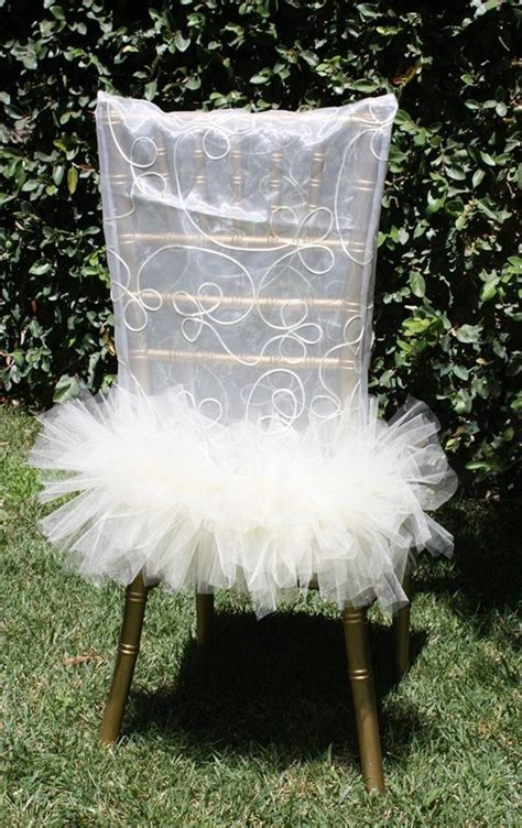 ballerina chair cover bridal shower decoration