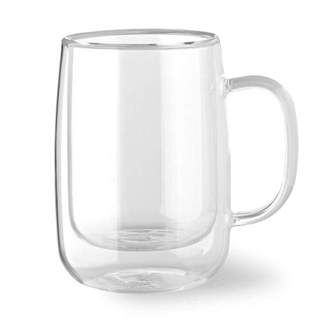 Yuncang glass coffee mugs 2 pack,double wall insulated glass mugs cups,cappuccino cups with cleaning brush,12 ounces 350ml,perfect for americano,latte,beverage,cappuccinos,espresso cups… Double Wall Glass Coffee Mug, Set of 4, Small   Williams Sonoma CA