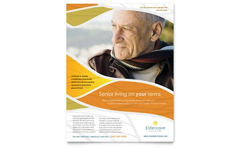 Elder Care Nursing Home Print Template Pack From Assisted Living Brochure Template Design