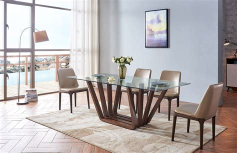 Modern Dining Room Table And Chairs by 1330 Dining Table With 1638 Chairs Modern Casual Dining