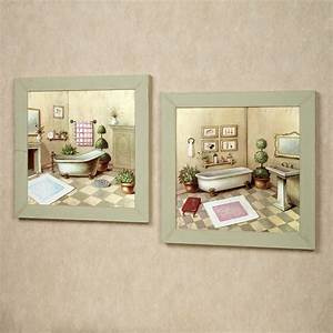 Garran bathroom washtub framed wall art set for Artwork for bathroom walls