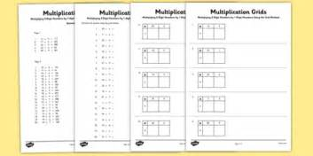 multiplication worksheets using grid method multiplying 2 digit numbers by 1 digit numbers using grid