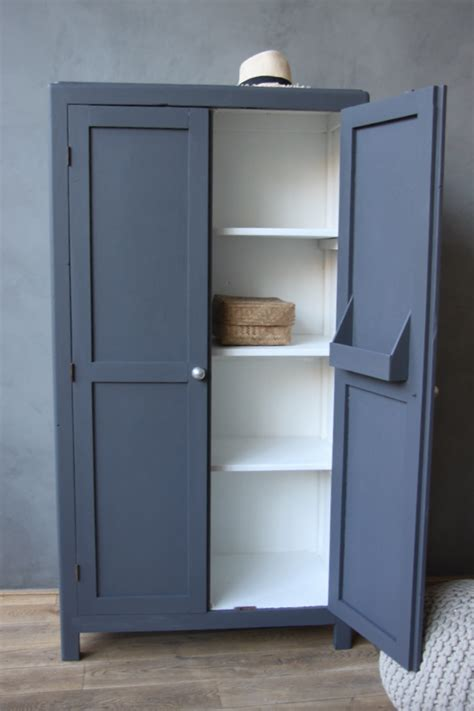 Painted Cupboard by White Inside Painted Plus Slate Colour On Outside
