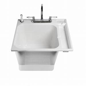 ASB 104050 0 White Drop-In Plastic Utility Tub Lowe's Canada