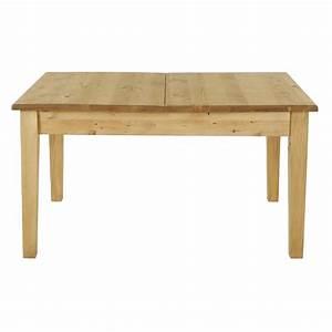 Table Rallonge Bois : table rustique en pin 140 cm rallonge 40 cm grenier alpin ~ Teatrodelosmanantiales.com Idées de Décoration