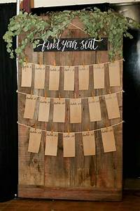 Rustic Greenery Wedding Seating Arrangement Chart