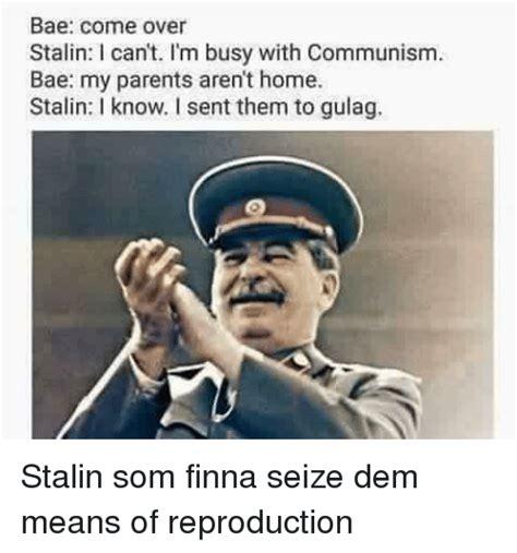 Gulag Memes - bae come over stalin can t i m busy with communism bae my parents aren t home stalin know i sent
