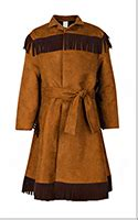 s hunting frock coat fringed hunting coat colonial hunting coat