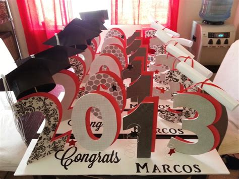 graduation table decorations for guys graduation table centerpieces to order email me at
