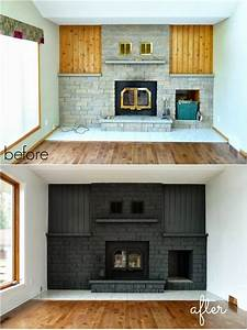 how to easily paint a stone fireplace charcoal grey With what kind of paint to use on kitchen cabinets for wall art fireplace