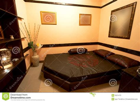 l japanse stijl slaapkamer in de japanse stijl stock afbeelding