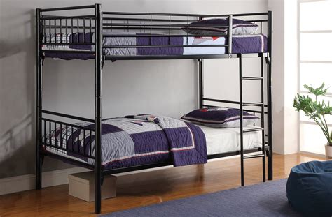 white metal full  full bunk bed  american