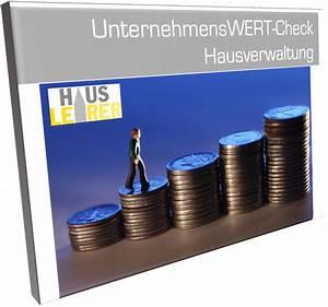Unternehmensbewertung Berechnen : unternehmenswert check hausverwaltung produkte vorlagen muster co f r hausverwaltungen ~ Themetempest.com Abrechnung