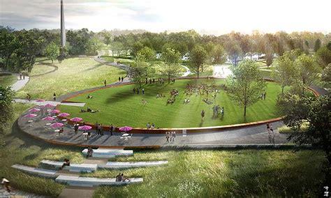Civitas Park Plan for North Carolina Museum of Art Breaks