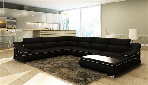 canape angle cuir noir salon avec canape noir