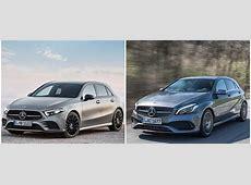 Photo Comparison 2019 W177 Mercedes AClass vs Old W176