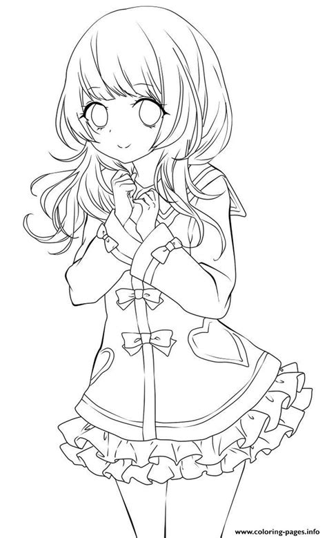 chibi school girl coloring pages printable