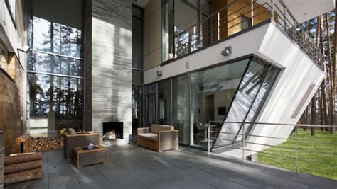 contemporary house  wooden architecture  russian homemydesign