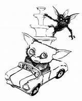 Gremlins Coloring sketch template