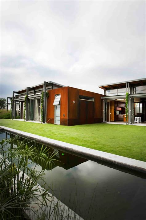 warm  winter cold  summer modern sustainable home