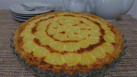 tarte hawa 239 enne ananas noix de coco 1 p 226 te sabl 233 e 100 g de sucre roux sinon sucre en poudre 3