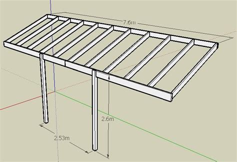 Ceiling Joist Spacing Uk by Pergola Beams Rafters Help With Spans Sizes