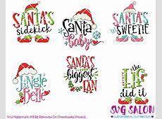 Santa Silhouette SVG Cut Files Images