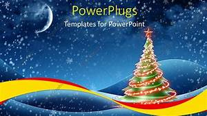 PowerPoint Template: a christmas tree with some chinning ...