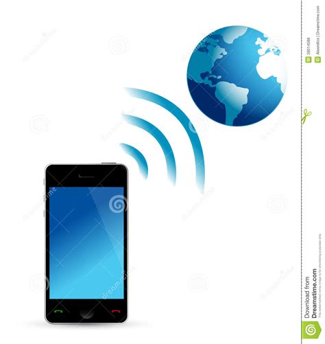 wifi on phone phone and globe wifi royalty free stock photos image