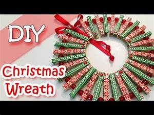 Christmas Wreath with Clothespins Christmas Decorations