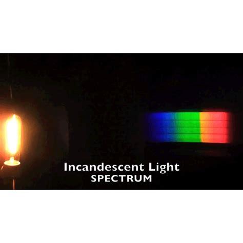 incandescent light spectrum diffraction gratings planetarium activities for