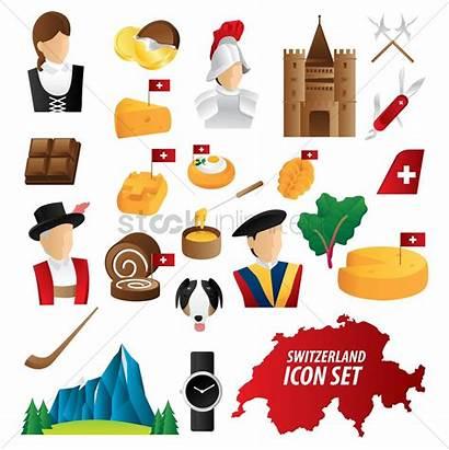 Switzerland Icons Vector Illustration Stockunlimited Graphic