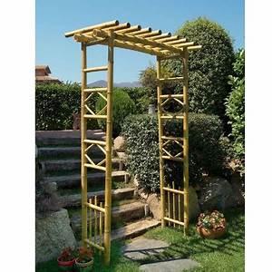 Tonnelle En Bambou : pergola en bambou intermas celloplast plantes et jardins ~ Premium-room.com Idées de Décoration