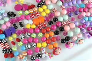 Chunky Bubblegum Bead Necklace Tutorial