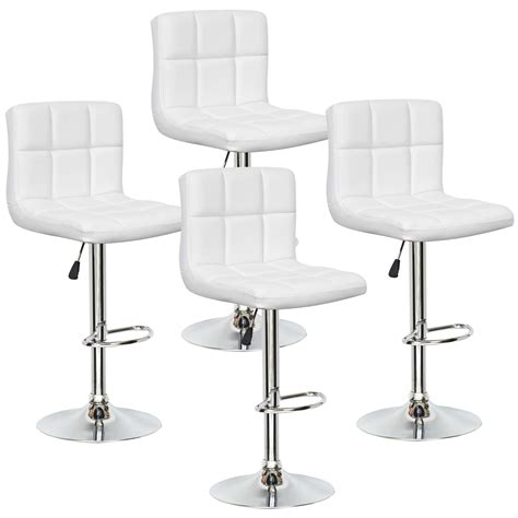 chaise de bar blanche deco in lot de 4 tabourets de bar blanc scalo